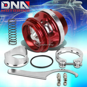 Universal 50mm V Band Red Turbo Blow Off Valve Bov 35 Psi Boost Spring Flange