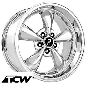 4 17 Inch 17x9 Bullitt Style Oe Replica Chrome Wheels Rims Fit Mustang 94 04