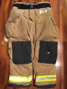 Firefighter Turnout Bunker Pants Globe 46x32 G Extreme Halloween Costume