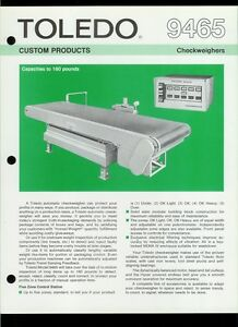 Rare Vintage Orig Toledo Scale Dealer Sheet Page 9465 Checkweighers