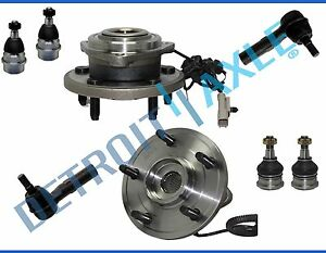 Front Wheel Bearing And Hub Ball Joint Tierod Jeep Grand Cherokee Commander 8pc