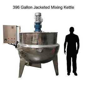 Jacketed Mixing Kettle 396 Gallons new 3 Layers Of Construction