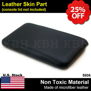 Leather Center Console Lid Armrest Cover Fits For Ford Ranger 1998 2004 Black