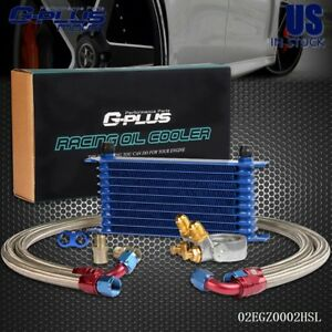 Gplus 10 Row Thermostat Adaptor Engine Racing Oil Cooler Kit For Car truck