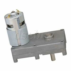 Low Speed Electric Geared Motors Dc12v 2 5rpm Metal Gearbox Motor
