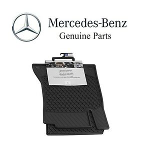 For Mercedes C class Coupe 2017 All Weather Season Front Set Black Floor Mats