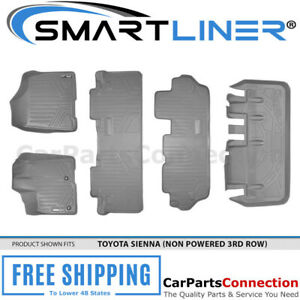 Maxliner All Weather Floor Mats Trunk For Toyota Sienna 8 Passenger 13 17 Grey