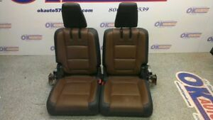 2013 Ford Explorer Limited Rear third Row Power Seat Black Brown Leather