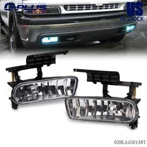 For 99 02 Chevy Silverado 2000 2006 Tahoe Suburban Fog Lights Bumper Lamps