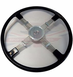 New Quality Reproduction Of Brooklands Steering Wheel For Mg Td Tf Black Fits Mg