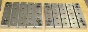 2 Jergens 19 Square T slotted Pallets Fixture Plates W Ball Lock Receivers