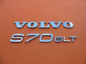 98 99 00 Volvo S70 Glt Rear Trunk Gate Lid Chrome Emblem Logo Badge Sign Oem Set