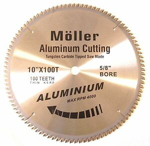 10 X 100t Aluminum Cutting Tct Saw Blade