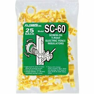 Fi shock T post Screw Yellow 25 Pack Polyethylene