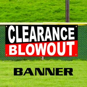 Clearance Blowout Promotion Retail Banner Sign New Business Sale Store Shop