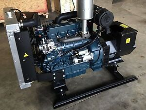 30kw Single Phase 120 240 Continuous Home Kubota Diesel Generator Set New Engine
