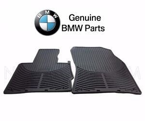 New For Bmw E53 X5 00 06 Front Rubber Floor Mat Set Black All Weather Genuine