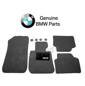 For Bmw E90 E91 325i 328i 330i Front Rear Black Floor Carpeted Mat Set Genuine