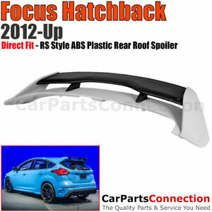 For 2013 2017 Ford Focus 4d Hb Rs Style Abs Plastic Rear Trunk Wing Spoiler Lip