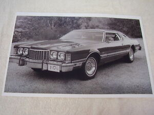 1976 Ford Thunderbird 11 X 17 Photo Picture
