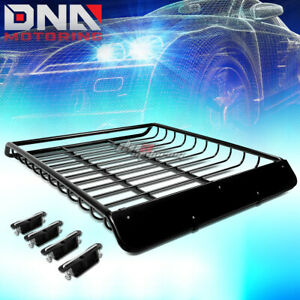 53 x 43 roof Rack Top Cargo Baggage Carrier Basket wind Fairing deflector Black