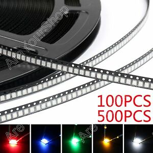 3528 Smd Smt Led Red Green Blue Yellow White 7colours Light Diodes Emitting A1