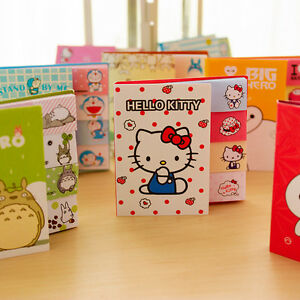 New 48pcs lot Cartoon Sticky Notes Folding Post it Memo Pad Office Accessories