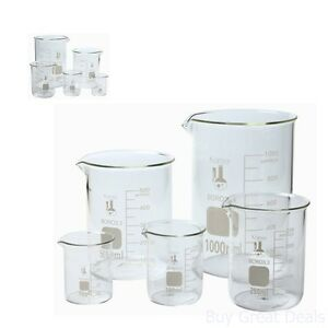 Flask Set Laboratory Glassware Science Lab Chemistry Beaker Supplies