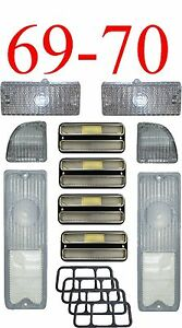 69 70 Chevy 10pc All Clear Tail Light Deluxe Side Parking Light Kit C K Truck