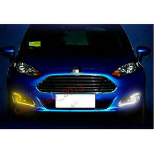 Car Led Daytime Running Light Drl Fog Lamp For Ford Fiesta 2013 2016