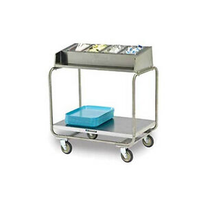 Lakeside 216 Stainless Steel Angle Frame Tray Silver Cart