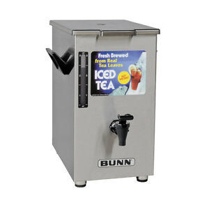 Bunn 03250 0005 Iced Tea Dispenser 4 Gallon Square W Brew through Lid