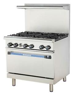 Radiance 36 Commercial Gas Range W Std Oven 4 Burners 12 Griddle