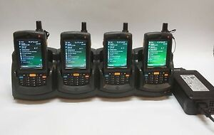 Lot 4 Mc75 Mc7596 pycskrwa9wr 1d Motorola Barcode Scanner Gsm Camera Cradle