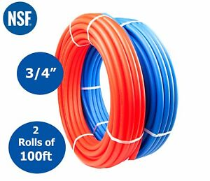 3 4 X 100 Feet Pex Tubing Pipe For Potable Water Non Oxygen Barrier Red