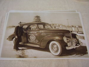 1939 Chrysler Royal Aaa Official Indy 500 Car 11 X 17 Photo Picture