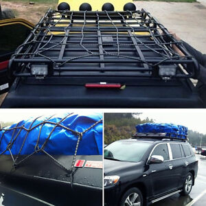Car Roof Tray Platform Racks Carry Box Luggage Carrier Secure Cargo Nets
