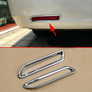 Fit 2011 2019 Toyota Sienna Chrome Rear Bumper Fog Indicator Light Cover Garnish