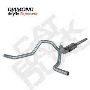 Diamond Eye Dual 3 Stainless Cat Back Exhaust For Ford F 150 5 4l 2004 2008