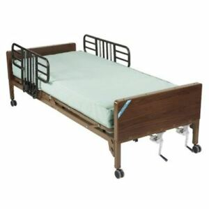 Drive Medical 15003bv pkg 1 Multi Height Manual Hospital Bed With Half Rails And