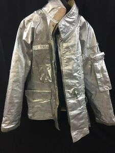 Fire Gear Firefighter Proximity Jacket Turnout P41fvb 46r Very Good Condition