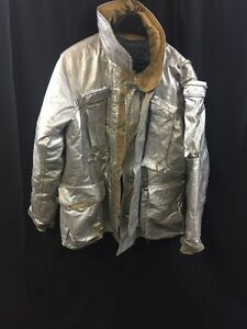 Fire Gear Firefighter Proximity Jacket Turnout 91f6 42 46 Fair poor Condition