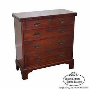 Custom Quality Solid Mahogany Chippendale Style Bachelors Chest