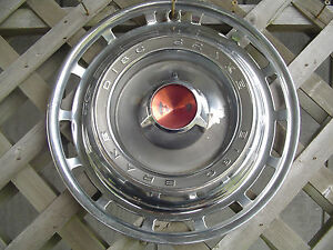 1966 66 Dodge Chrysler Plymouth I5 In Disc Brake Hubcap Wheel Cover Vintage