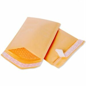 500 250 100 50pcs Kraft Bubble Envelopes Padded Mailer Shipping Bag Self Seal