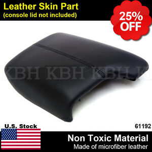 Leather Armrest Center Box Console Lid Cover For Honda Accord 2013 2017 Black