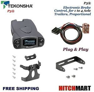 P3 Trailer Brake Control W Custom Adapter For 2003 2006 Chevy Silverado 90195