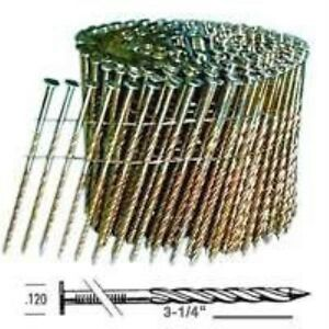 Stanley C12s120dg Coil Collated Framing Nail 0 12 In X 3 1 4 In 15 Deg Steel