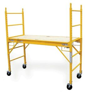 Baker Scaffold Scaffolding Plank With Wheels Mobile Ladder Worksite Jobsite