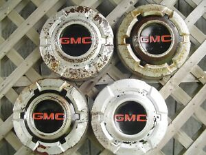 4 Vintage Gmc Jimmy Chevrolet Pickup Truck Blazer Van Hubcaps Wheel Covers 1 2